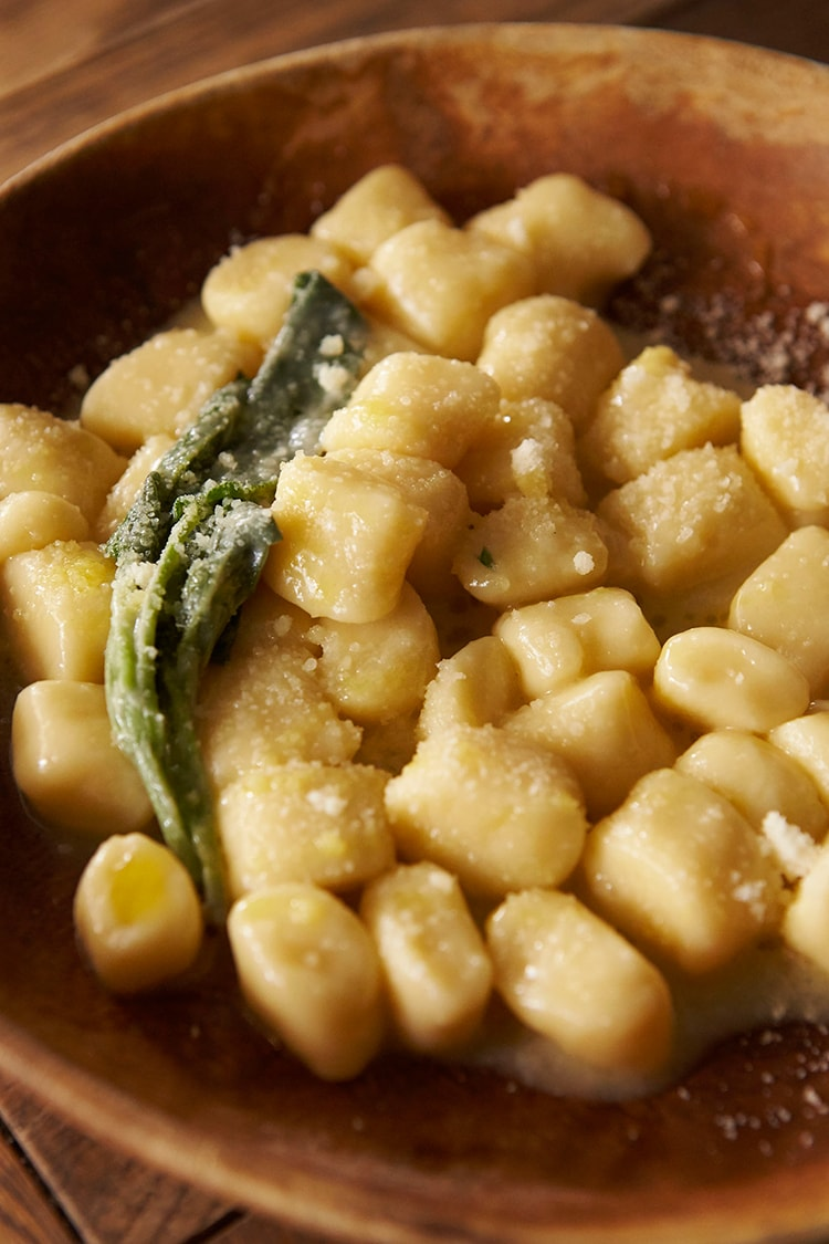 34 自家製ジャガイモのニョッキ チーズソースレシピ
