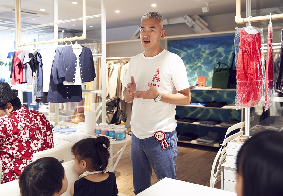 夏休みのアート体験!〈アニエスベー〉のTシャツペイントのワークショップをレポート