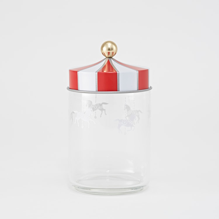 〈アレッシィ〉サーカスコレクションのガラスジャー