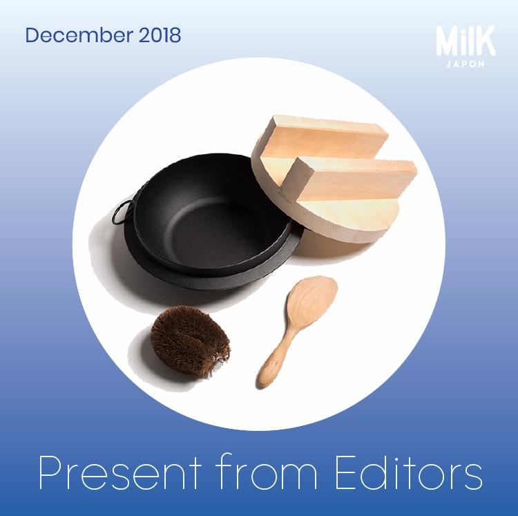 12月:〈釜浅商店〉南部鉄ご飯炊きセット(5合炊き)