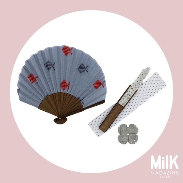 7月:〈中川政七商店〉の扇子ホタテ形2種
