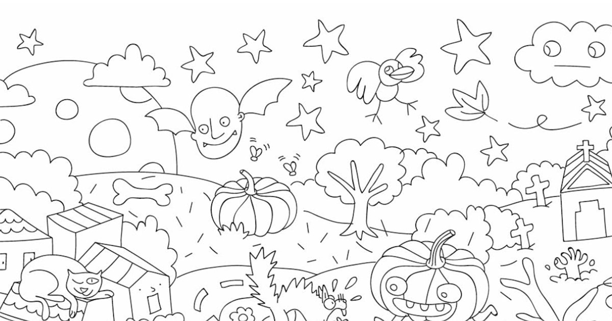 パリのデザイナー集団〈OmY〉の塗り絵(秋)