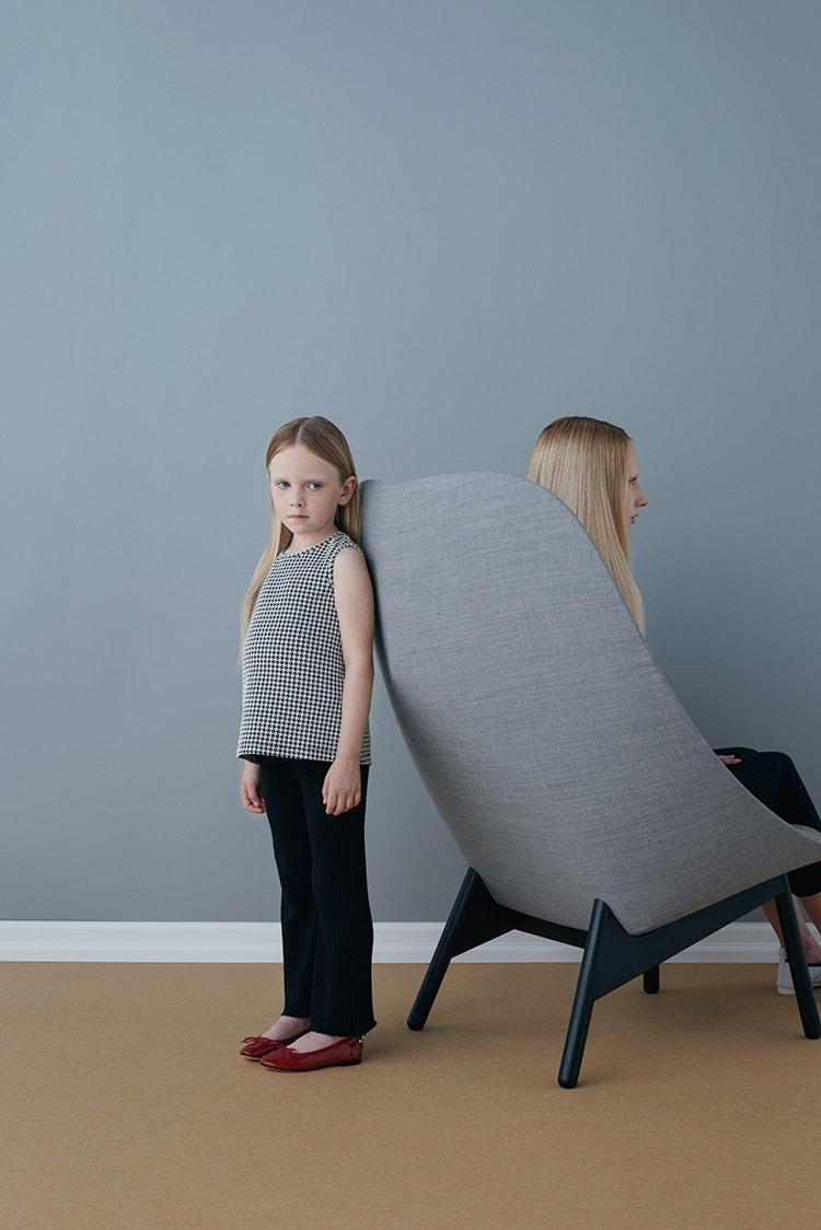 SAMPLE 07:</br>子どもとおとなの気軽に着る上品スタイル