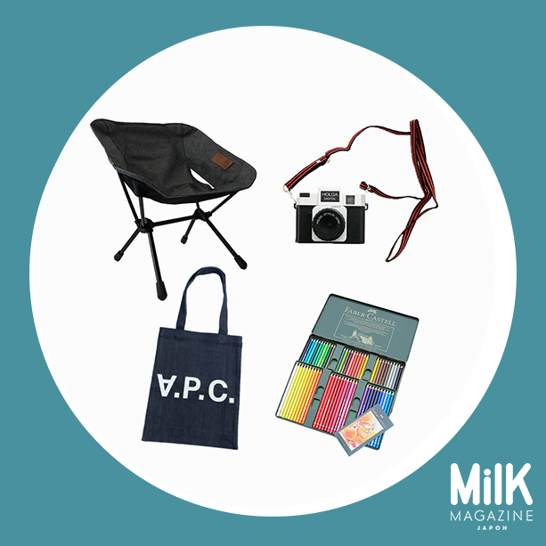 【超豪華】12月:〈A.P.C〉トートバック、〈ヘリノックス〉チェアホーム ミニ、〈ホルガデジタル〉トイカメラ、〈ファーバーカステル〉色鉛筆