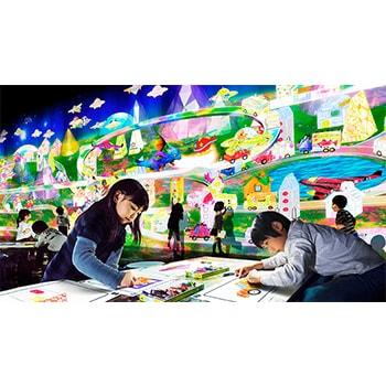 「チームラボ お絵かきタウン&ペーパークラフト」がGWに開催!