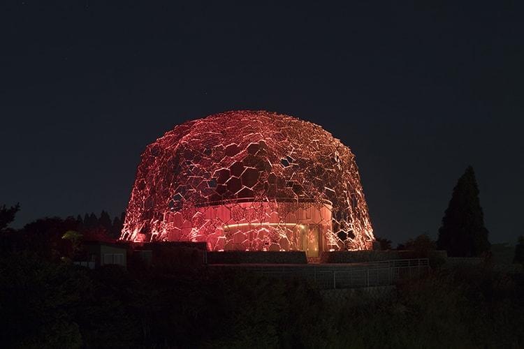 伏見雅之『六甲山光のアート「Lightscape in Rokko」』自然体感展望台 六甲枝垂れ
