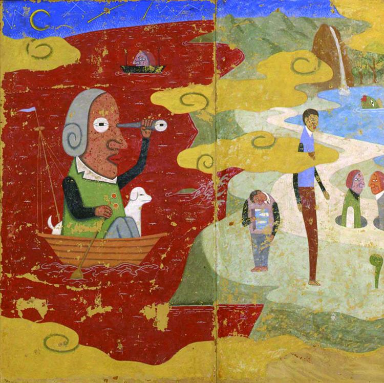 肥沼守 《航海譚~キドラ島~》 2000年 フレスコ・ストラッポ