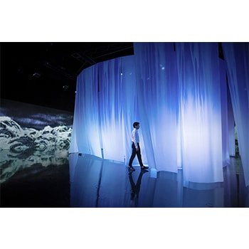 「千住 博 & チームラボ コラボレーション展『水』」世界で活躍するアーティストの共作を体感しよう
