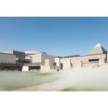 「霧の抵抗 中谷芙二子」水戸芸術館で開催中。霧の彫刻のインスタレーションも