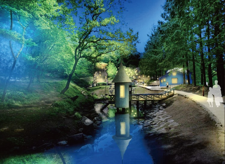 トーベ・ヤンソンあけぼの子どもの森公園ライトアップ
