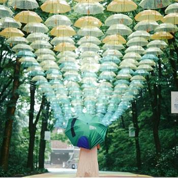〈メッツァビレッジ〉で梅雨時期の限定イベント「森と、湖と、アンブレラと。」を開催