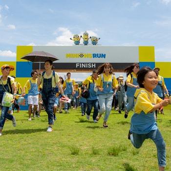 〈ラ チッタデッラ〉で夏イベント「ミニオンズラン川崎」を開催、ミニオンのコスチュームを着て家族みんなでラン!