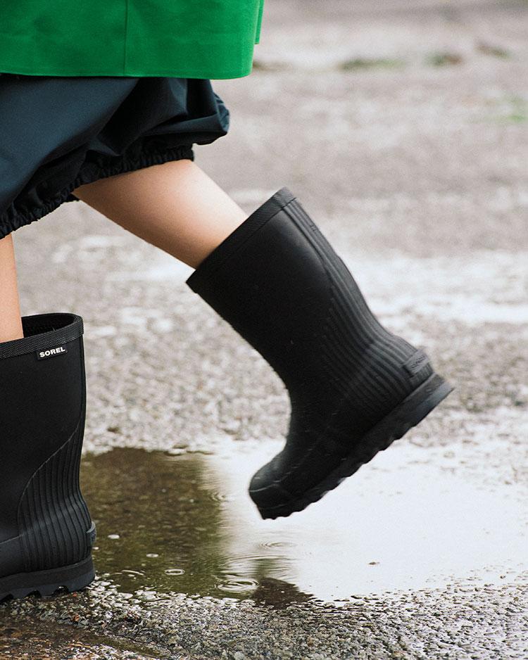 vol.01:雨の日が待ち遠しいレイングッズ特集 水たまりもへっちゃらなレインブーツ