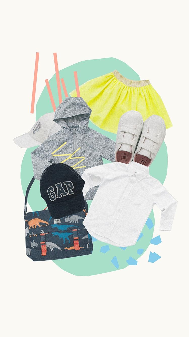 デジタルルックブックでお届けする〈GapKids〉&〈babyGap〉の春のスクールスタイル!