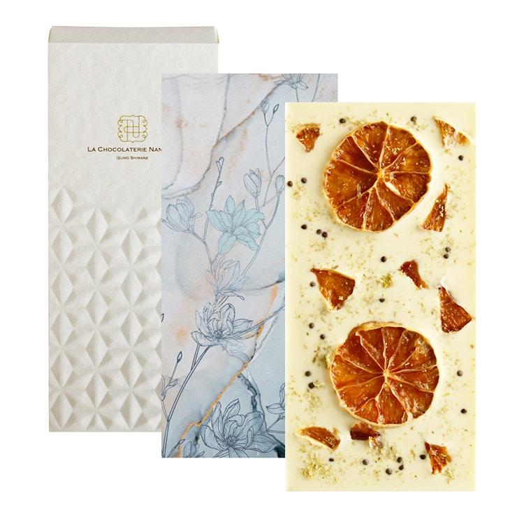 島根県出雲市のビーントゥバー専門店〈La chocolaterie NANAIRO〉White Chocolate with Lime & Egoma
