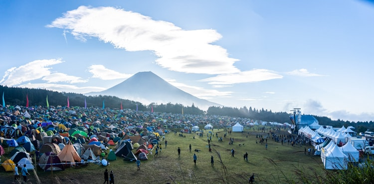 〈It's a beautiful day Camp in 朝霧JAM 2019〉(静岡・朝霧アリーナ ふもとっぱら)