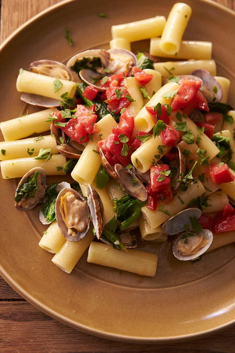 40 菜の花のボンゴレリガトーニレシピ