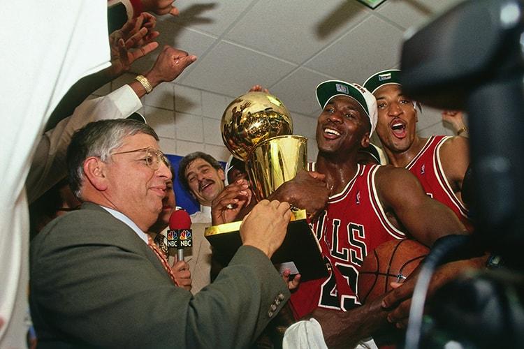 シカゴ・ブルズは90年代、6回優勝という栄冠を手にする。