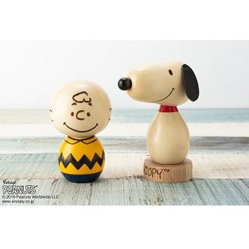 木のぬくもりを感じる、群馬県の伝統工芸「創作こけし」からスヌーピー&チャーリー・ブラウン登場!