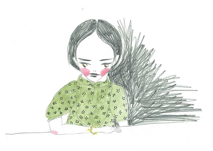 葉和さん小学2年生