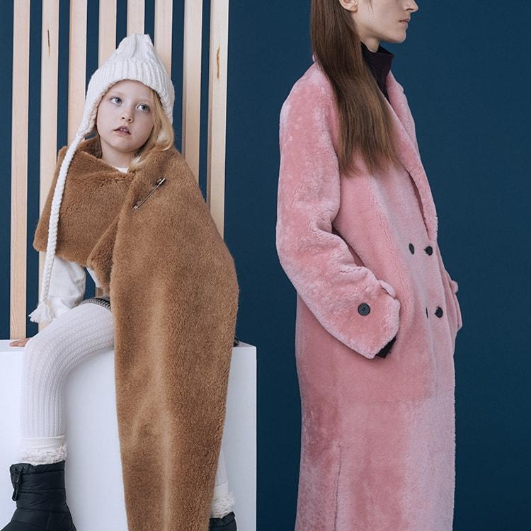 SAMPLE 16:</br>子どもとおとなの真冬のモコモコスタイル。