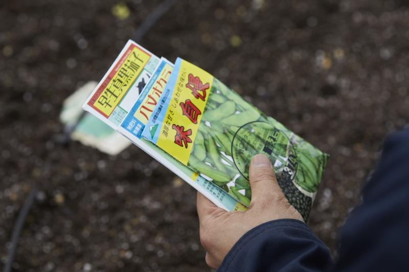 古来種の種で野菜を育てれば、さらに種が出来てまた植えることができる。「これが家庭菜園の醍醐味ですね」