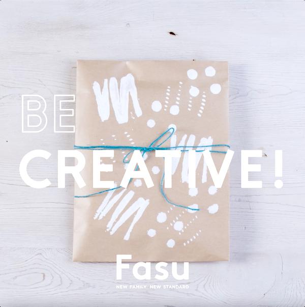 パスタやボタン、家にあるもので作るアートなハンコで、オリジナルのラッピングに挑戦【Be Creative! 動画】