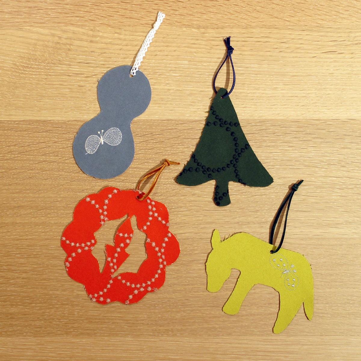 """〈マルニ木工〉で〈ミナ ペルホネン〉""""dop""""の余り布でつくるクリスマスオーナメントワークショップ開催!"""