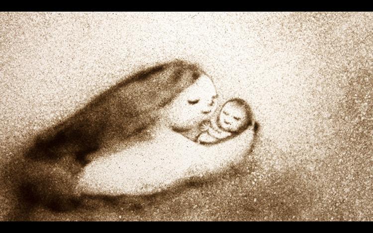 """若見ありさ 《Birth-つむぐいのち-水の中の妊婦》 2015年 アニメーション (9'10"""")"""