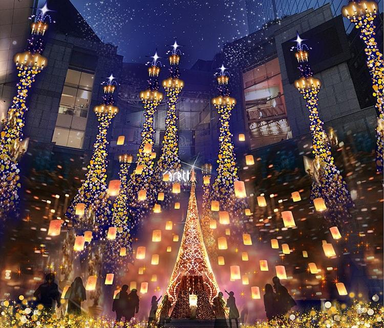 「Caretta Illumination 2018 ~ディズニーMovieNEX プリンセスイルミネーション~」画像