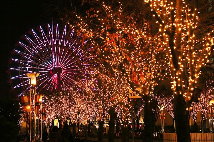 神戸ハーバーランド「神戸ガス燈通りのイルミネーション」画像