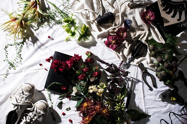 「色を纏う花展」画像