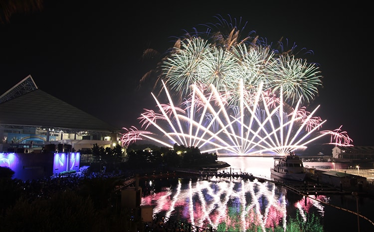 横浜・八景島シーパラダイス「花火シンフォニア」