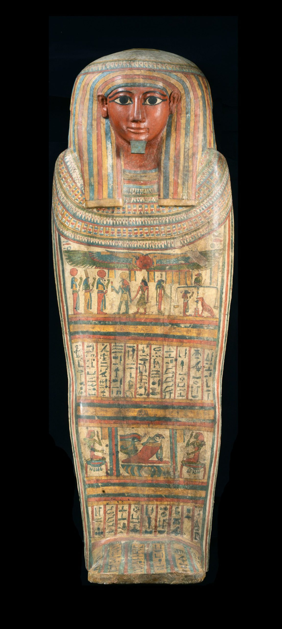 ホルの外棺 後期王朝時代 (蓋)長さ199㎝、幅72㎝、高さ38㎝ (身)長さ200㎝、幅72㎝、高さ35㎝ ライデン国立古代博物館 Image © Rijksmuseum van Oudheden (Leiden, the Netherlands)