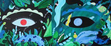 豊かな色彩の現代アートを堪能! ポーラ美術館の岡田杏里「Soñar dentro de la tierra / 土の中で夢をみる」展