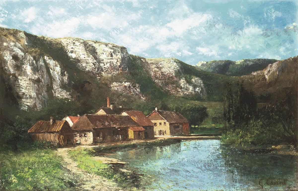 ギュスターヴ・クールベ《フランシュ=コンテの谷、オルナン付近》 1865年頃 油彩・カンヴァス 茨城県近代美術館