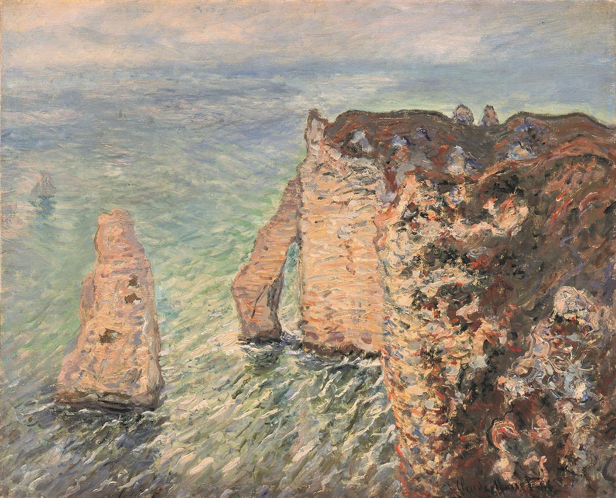 クロード・モネ《アヴァルの門》 1886年 油彩・カンヴァス 島根県立美術館