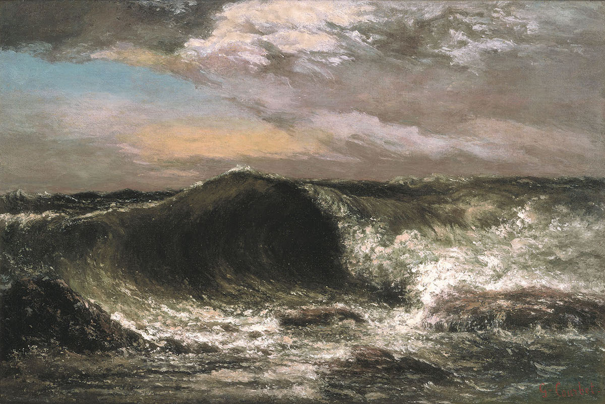 ギュスターヴ・クールベ 《波》 1869年 油彩・カンヴァス 愛媛県美術館
