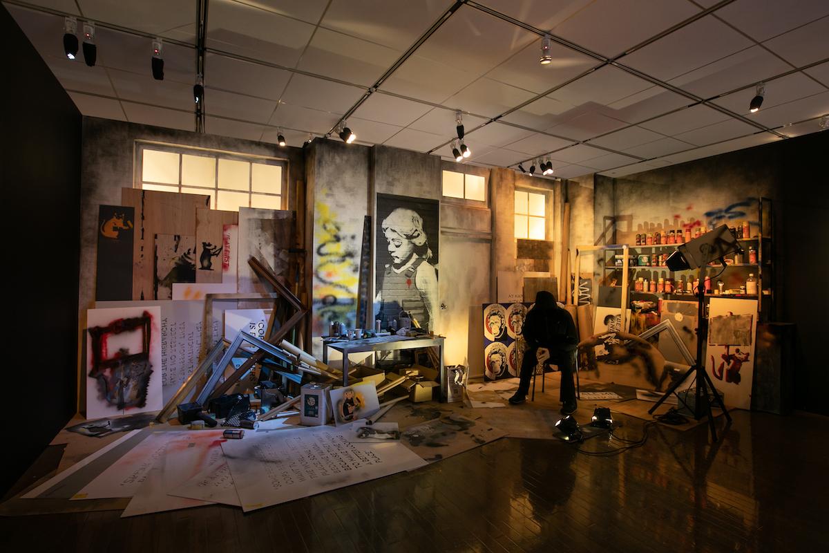 「アーティスト・スタジオ」再現展示の様子