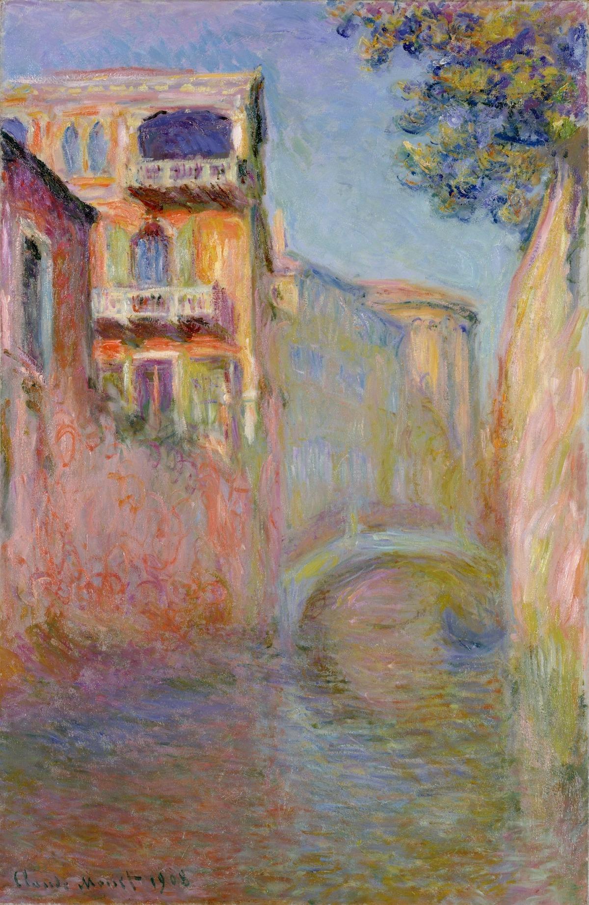 クロード・モネ 《サルーテ運河》 1908年 ポーラ美術館