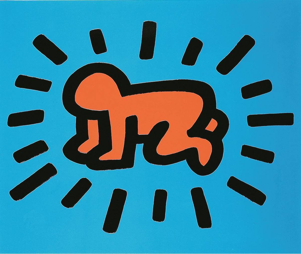 キース・へリング《イコンズ》1990年、中村キース・ヘリング美術館蔵 Keith Haring Artwork ©Keith Haring Foundation Courtesy of Nakamura Keith Haring Collection.