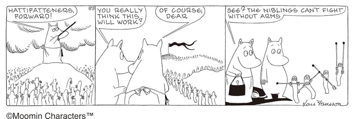 ラルス・ヤンソン「ムーミンたちの戦争と平和」原画 (1974年)
