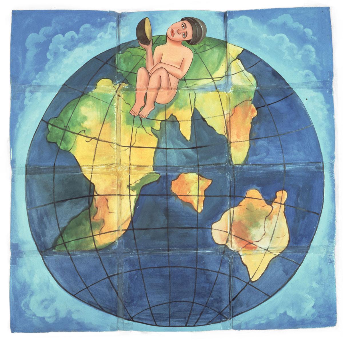 フランチェスコ・クレメンテ《二つの大地》1981年