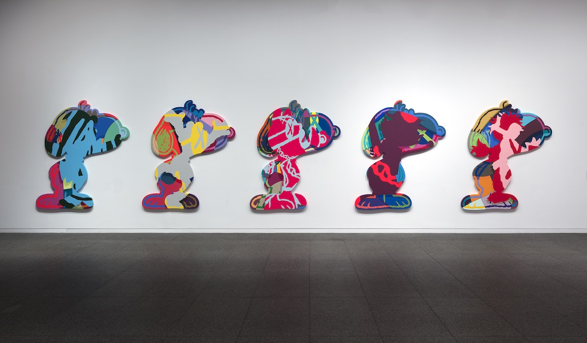 KAWS FIVE SUSPECTS, 2016 © KAWS, photograph by Todora Photography LLC, Collection of Larry Warsh