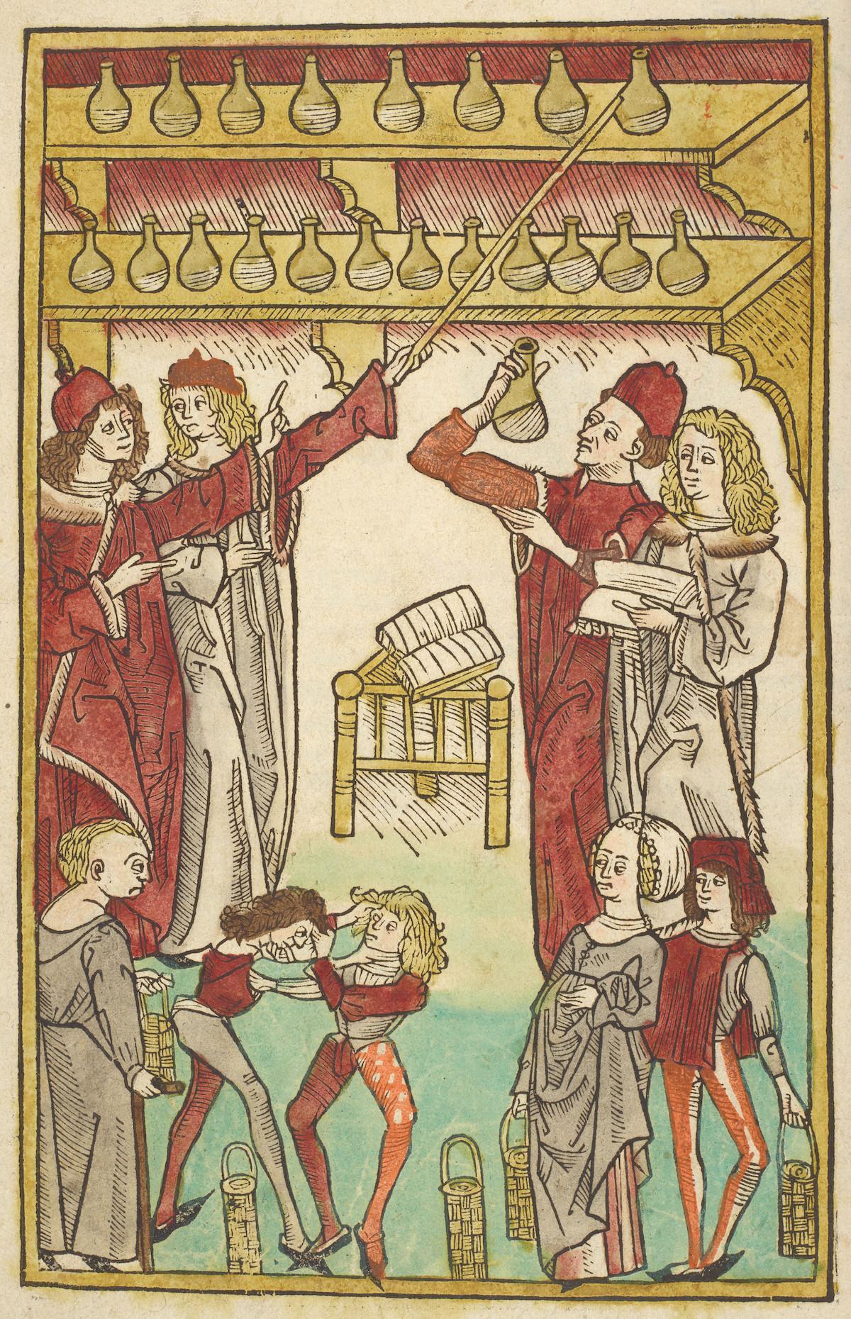 ヤコブ・マイデンバッハ『健康の庭』 1491年 大英図書館蔵 ©British Library Board