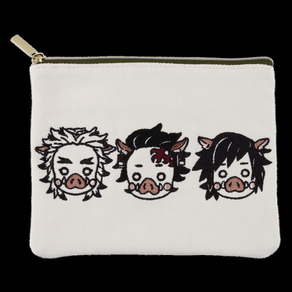 刺繍ポーチ うりじろう&うりおか&うりごく  1,980円(税込) ©吾峠呼世晴/集英社