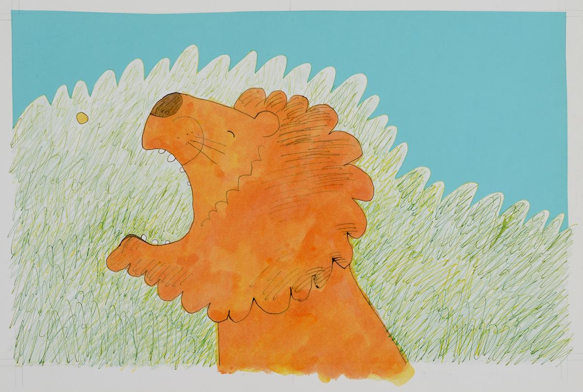 『あめだまをたべたライオン』(文・今江祥智)より 1977 フレーベル館 多摩美術大学アートアーカイヴセンター蔵