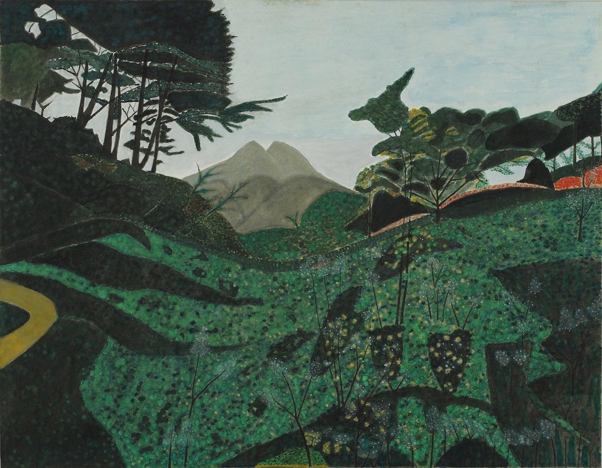 東勝吉 《川西から見た由布山》 1990 年代? 由布院アートストック蔵