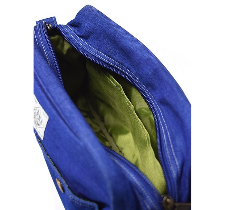 軽くて丈夫なデニム素材〈OCEAN&GROUND〉のショルダーバッグ:中身