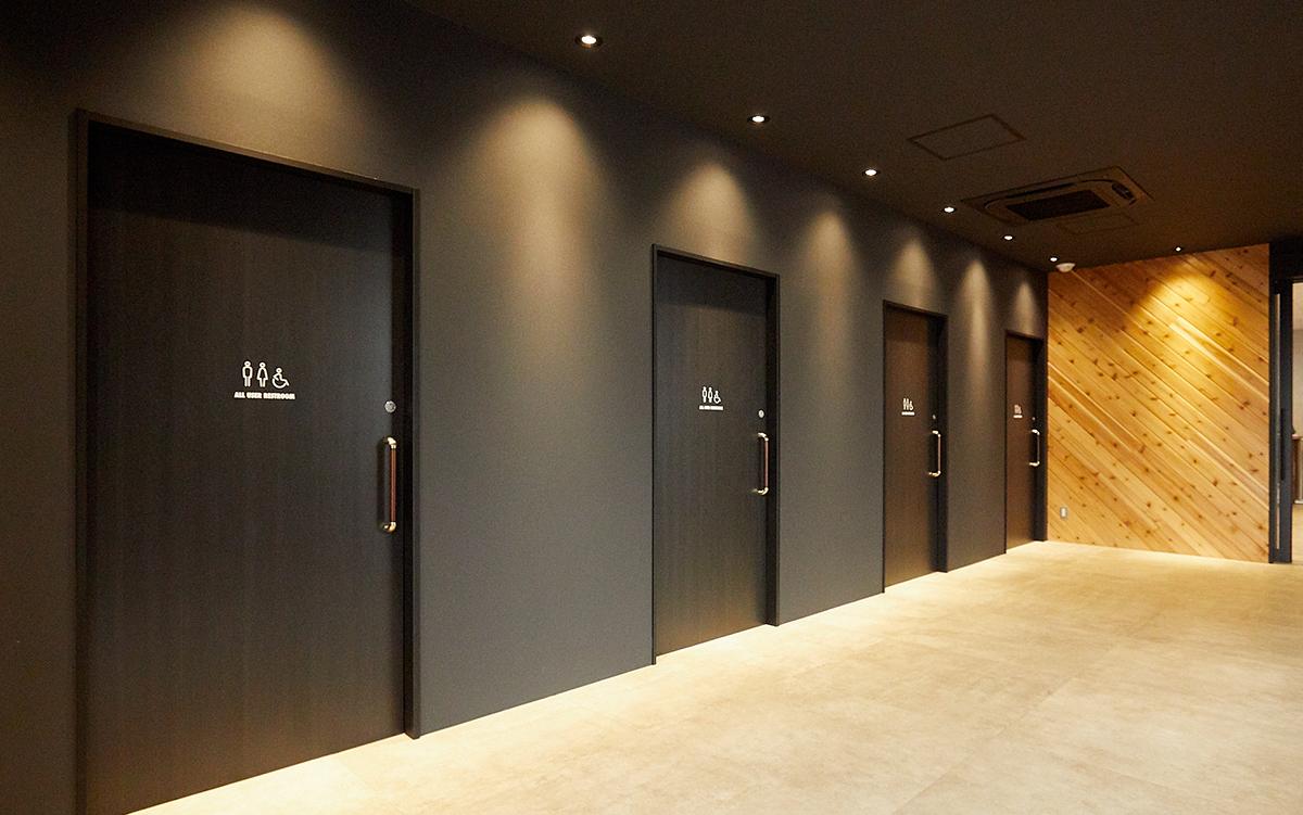 ユニバーサルデザインのトイレ